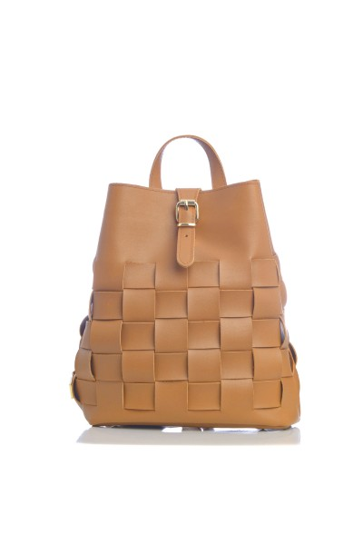 Straw Backpack Cognac