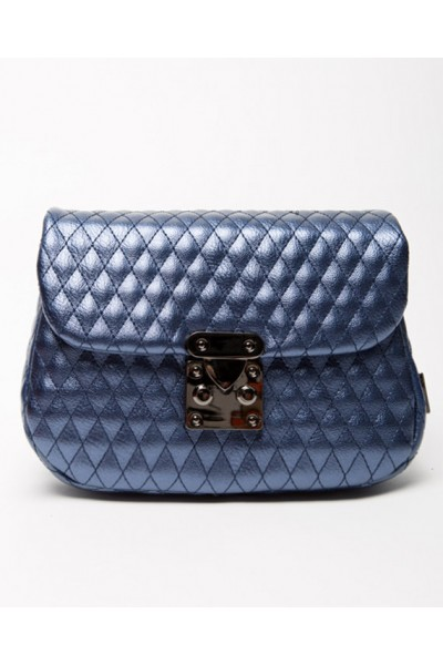"City Lady ""Belt Bag"" Metallic Blue"