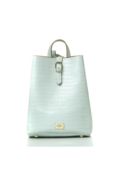 Backpack Croco Pattern Ice Blue